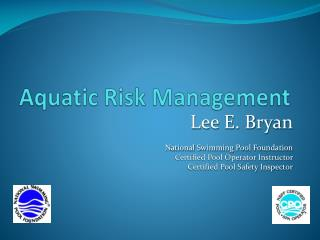 Aquatic Risk Management
