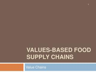Values-based food supply chains