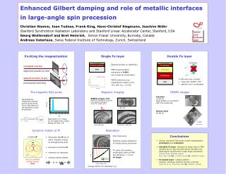 Enhanced Gilbert damping and role of metallic interfaces  in large-angle spin precession
