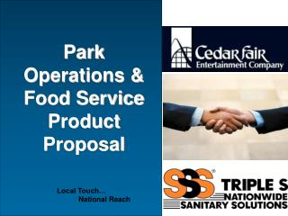 Park Operations  Food Service Product Proposal