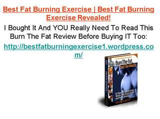 Best Fat Burning Exercise