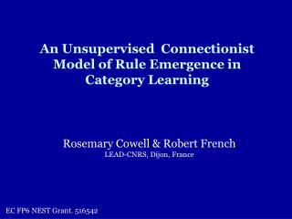 An Unsupervised  Connectionist Model of Rule Emergence in Category Learning