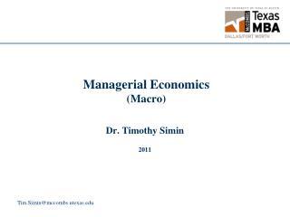 Managerial Economics (Macro)