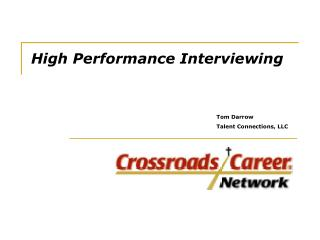High Performance Interviewing
