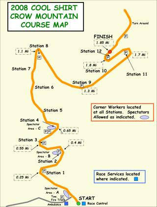 2008 COOL SHIRT  CROW MOUNTAIN  COURSE MAP
