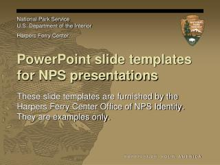 PowerPoint slide templates for NPS presentations