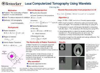 Local  Computerized Tomography Using Wavelets