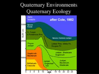 Quaternary Environments Quaternary Ecology