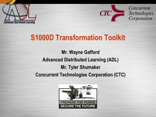 S1000D Transformation Toolkit