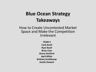 Blue Ocean Strategy Takeaways
