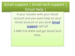 Gmail tech support | Gmail support |