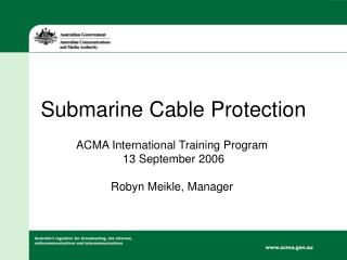 Submarine Cable Protection