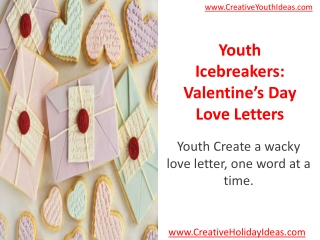 Youth Icebreakers: Valentine's Day Love Letters