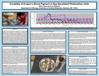 Durability of Dragon's Blood Pigment in Dye-Sensitized Photovoltaic Cells Brett Jones and Jim Bidlack