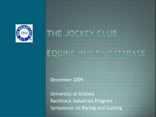 The Jockey Club Equine Injury Database