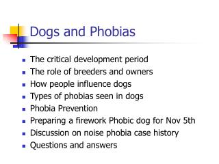 Dogs and Phobias