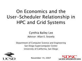 On Economics and the User-Scheduler Relationship in HPC and Grid Systems