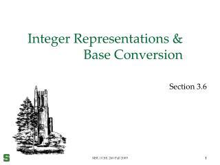 Integer Representations & Base Conversion