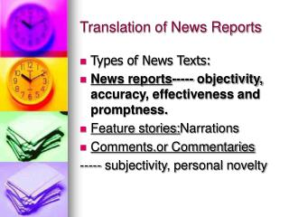 Translation of News Reports