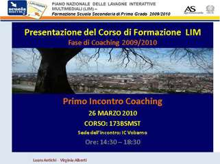 corso 173BSMST-1 incontro in presenza fase coaching