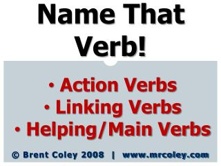 Name That Verb!