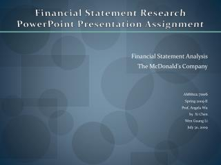 Financial Statement Research PowerPoint Presentation Assignment