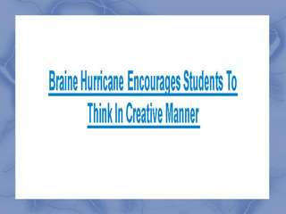 Brain Hurricane Tutor