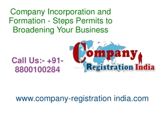 Company Incorporation and Formation