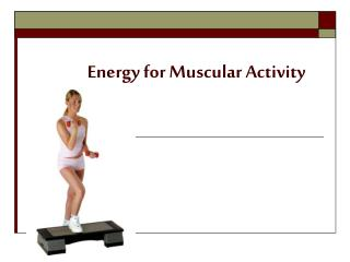Energy for Muscular Activity