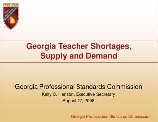 Georgia Teacher Shortages,  Supply and Demand