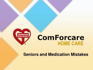 Seniors and Medication Mistakes
