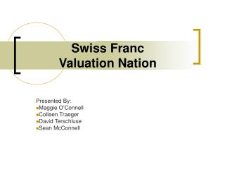 Swiss Franc  Valuation Nation