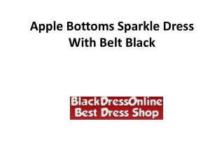 Apple Bottoms Sparkle Dress With Belt Black