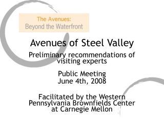 Avenues of Steel Valley