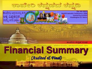 Financial Summary Audited  Final