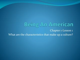 Being An American