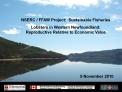 NSERC / FFAW Project:  Sustainable Fisheries Lobsters in Western Newfoundland: Reproductive Relative to Economic Value 5