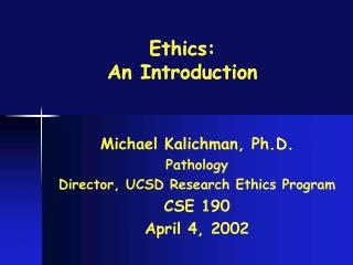 Ethics: An Introduction