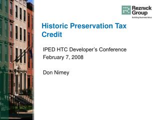 Historic Preservation Tax Credit