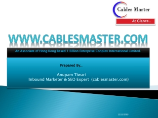 Cables Master  A Leading Name in Cables And Accessories