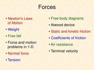 Forces