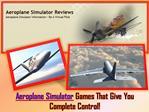 Aeroplane Simulator
