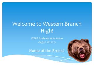 Welcome to Western Branch High!
