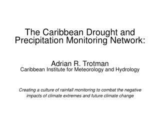 Caribbean Water Initiative (CARIWIN)