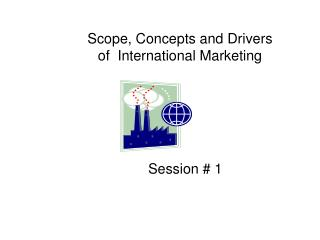 Scope, Concepts and Drivers  of  International Marketing
