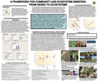 A FRAMEWORK FOR COMMUNITY AND ECOSYSTEM GENETICS:  FROM GENES TO ECOSYSTEMS