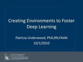 Creating Environments to Foster Deep Learning