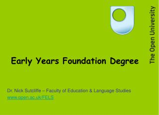Early Years Foundation Degree