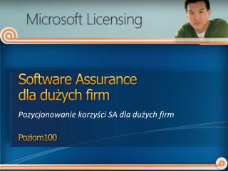 Software  Assurance dla du?ych firm