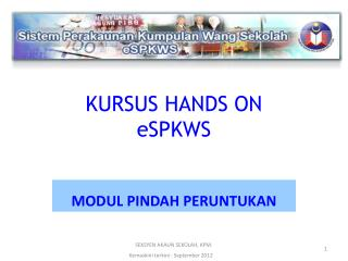 KURSUS HANDS ON  eSPKWS